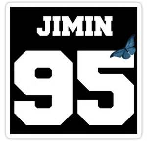 Butterfly Wall Art Stickers quot bts jimin 95 line butterfly jersey quot stickers by