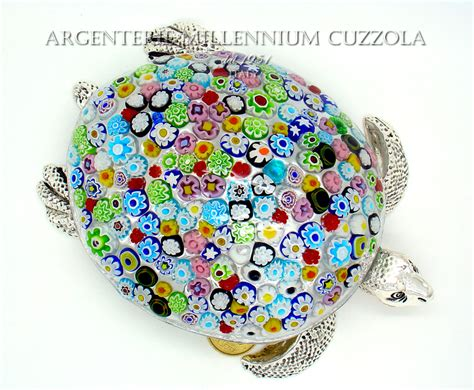 ladari di murano in offerta tartaruga marina vetro murano murrine argento silver glass