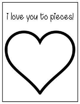 i you to pieces s day card template i you to pieces s day template by teaching