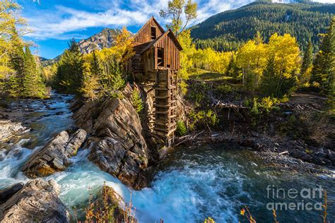 House Plans App autumn in crystal mill colorado landscape photograph by