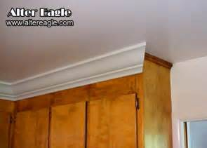 crown moulding ideas for kitchen cabinets installing crown molding above kitchen cabinets kitchen