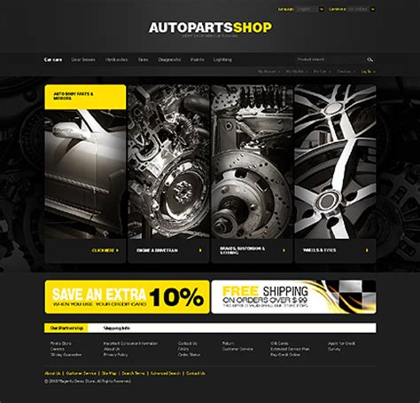 Best Vehicle Stores And Accessories Stores Magento Themes Set2 Free Tire Shop Website Template