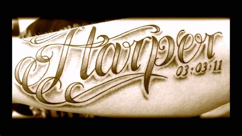 different tattoo fonts fonts best lettering ideas
