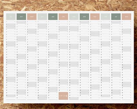 printable wall planner academic year sale 1 2 price large printable academic year wall planner
