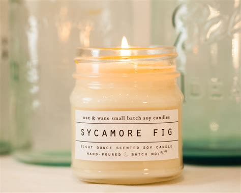 unique scented candles sycamore fig soy candle scented candle unique gifts for
