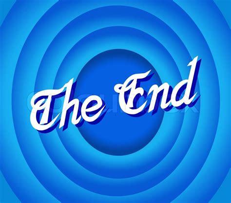 blue ending the end stock vector colourbox