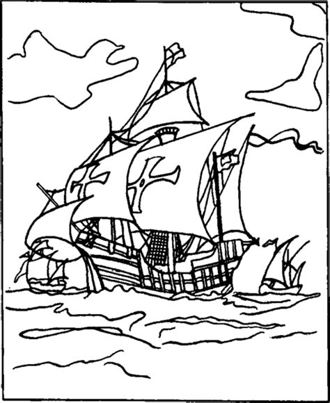 coloring pages of the nina pinta and santa maria designs for metal foil pictures