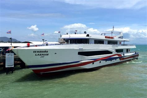 catamaran ferry tickets koh samui to krabi ferry bus van flight lomprayah