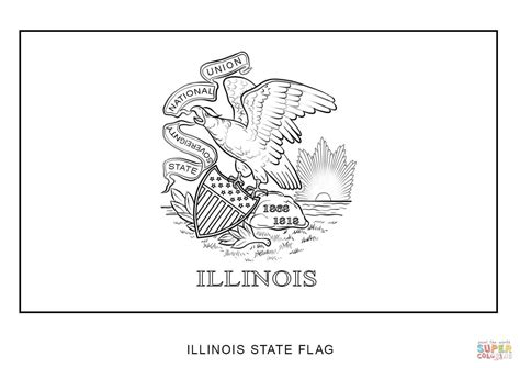 coloring page map of illinois flag of illinois coloring page free printable coloring pages