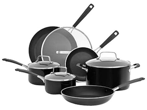 Kitchenaid 10 Cookware Set by Kitchenaid Aluminum Nonstick 10 Cookware Set Black