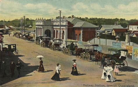 motor school brisbane ipswich railway station ca 1906 oxley library