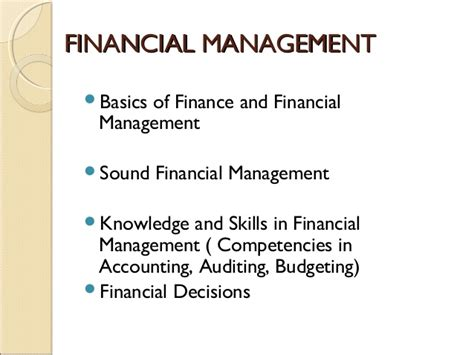 Mba Managerial Accounting And Budgeting by Financial Management Term Course For Non Finance