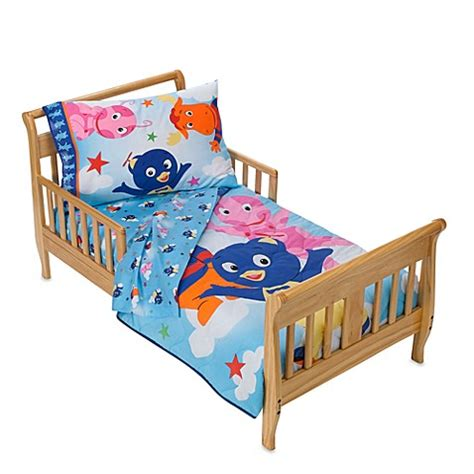 bed bath and beyond kids bedding backyardigans in the clouds 4 piece toddler bedding set