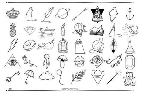 small tattoo flash designs insider