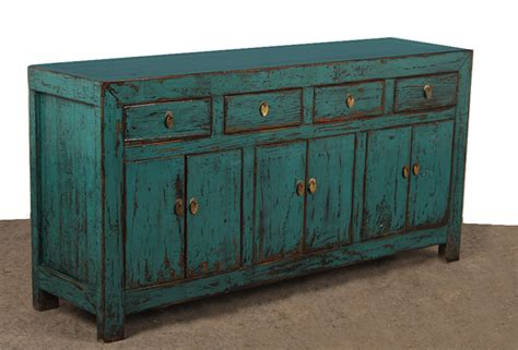 appealing turquoise sideboard