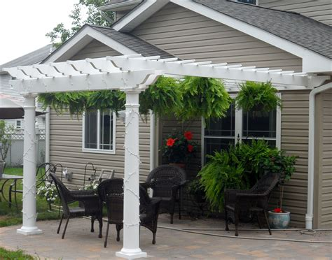 customer s photo 8 x 12 vinyl 2 beam wall mount pergola
