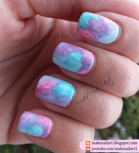 Nail Nails by Make Nail Easy Watercolor Pastel Nail Design Tutorial