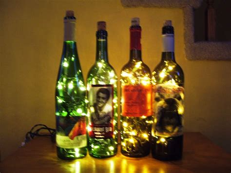 wine bottle christmas lights wine bottle accent light