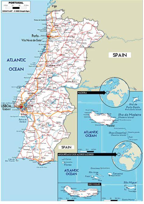 printable portugal road map road map of portugal portugal atlas