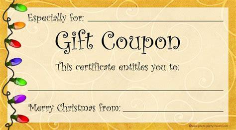 minute christmas gift  printable christmas gift coupons