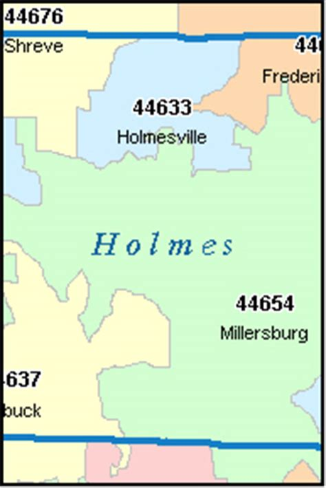 printable map holmes county ohio holmes county ohio digital zip code map
