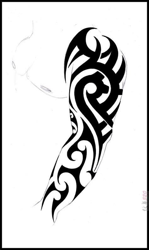 部落图腾纹身手稿 黑色纹身素描部落图腾纹身手稿