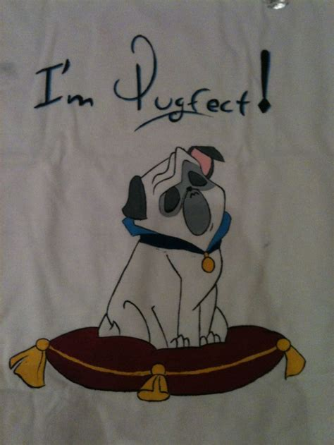 pug pocahontas t shirt disegnata a mano regalo percy the pug da pocahontas disegno originale