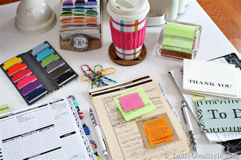 Fresh Start Planner Organization Ideas In My Own Style Desk Organizing Tips