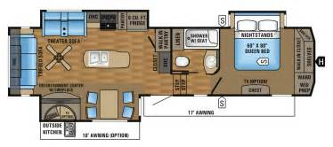 25 Ft Travel Trailer With Slide Floor Plans 2017 Eagle Fifth Wheel Floorplans Amp Prices Jayco Inc