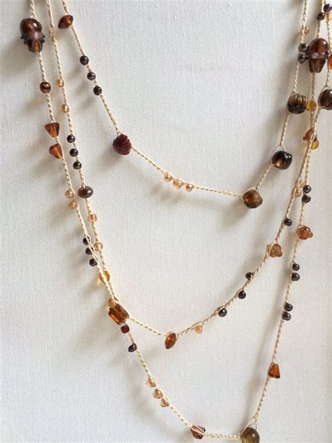 crochet bead necklace 5524 best jewellery images on necklaces diy