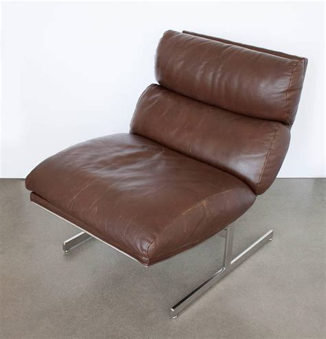 brown leather lounge chair pair of kipp stewart brown leather lounge chairs for
