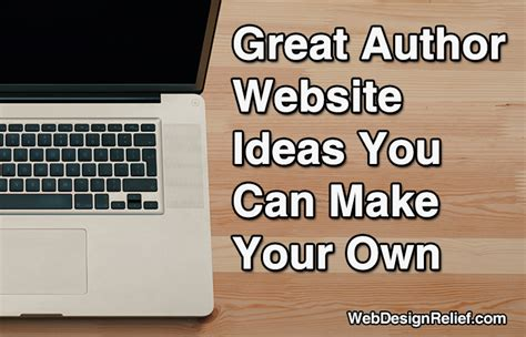 websites where you can draw great author website ideas you can make your own web