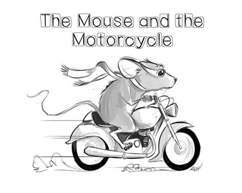 Coloring Page For The Mouse And The Motorcycle | mouse and the motorcycle coloring pages coloring pages
