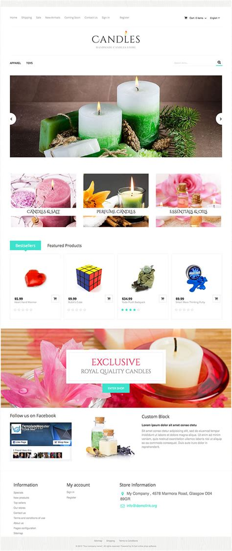 Xcart Templates by Quot Candles Quot By Templatemonster X Cart