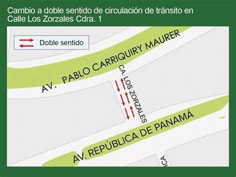 imágenes doble sentido imperdible calle de san isidro cambiar 225 de sentido a partir del lunes