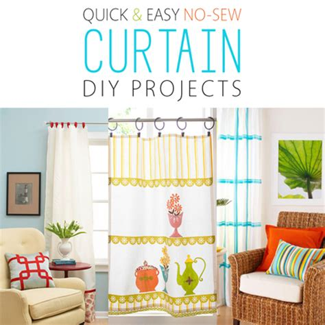no sew craft projects and easy no sew curtain diy projects the cottage