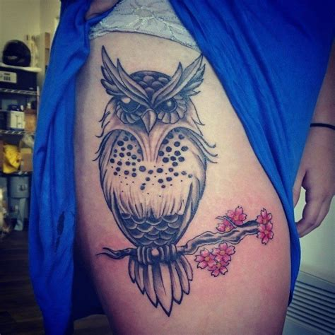 owl thigh tattoos owl thigh tattoos designs ideas and meaning tattoos for you