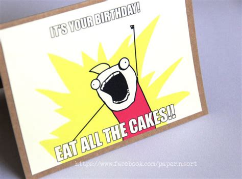 Birthday Card Meme - meme birthday card all the things geeky humorous greeting