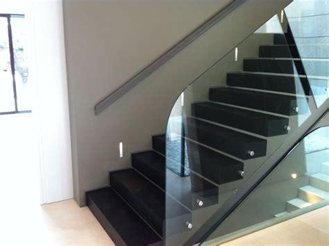 escaleras con barandilla de cristal barandillas de cristal