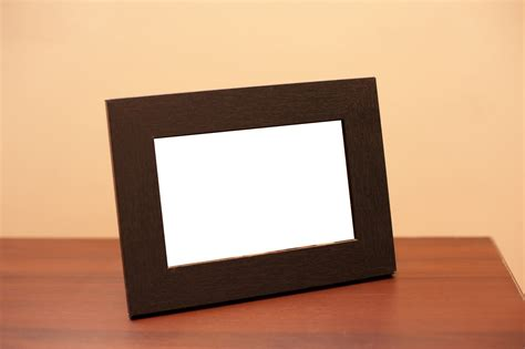image of blank table top wooden picture frame freebie
