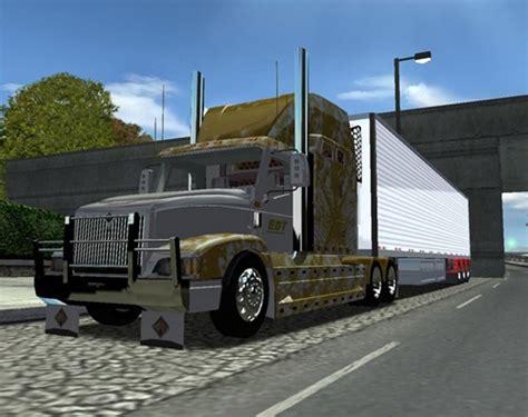 mod game 18 wos haulin international 9400 gray truck simulator games mods download