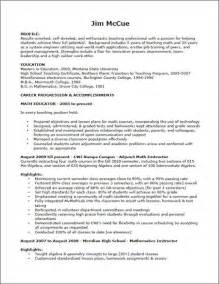 teaching curriculum template teaching resume exle sle resume