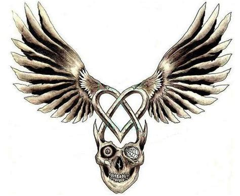 skull with wings tattoo designs skull wings images