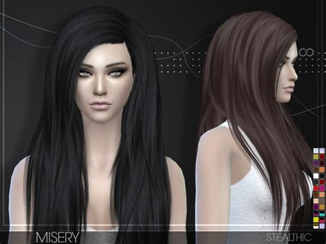 vanity female hair by stealthic at tsr sims 4 updates misery female hair by stealthic at tsr 187 sims 4 updates