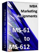 Ms Marketing Vs Mba Marketing by Ignou Mba Assignments 2018 Ignou Mba Solved Assignment