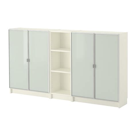 Ikea Billy Bookcase Glass Doors Billy Morliden Biblioth 232 Que Blanc Ikea