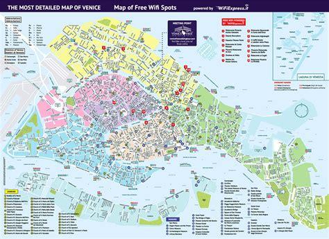 walking maps maps update 21051488 venice map tourist venice