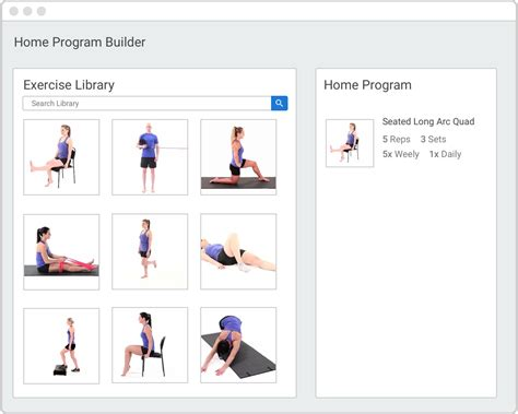 home exercise program medbridge