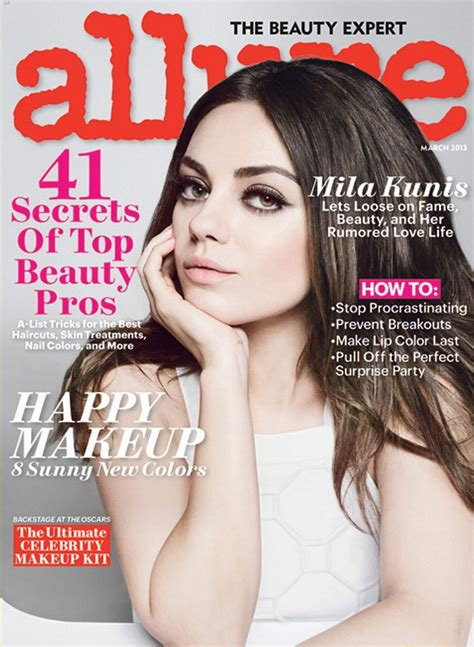On The Cover Of Magazine by Mila Kunis Covers Magazine March 2013
