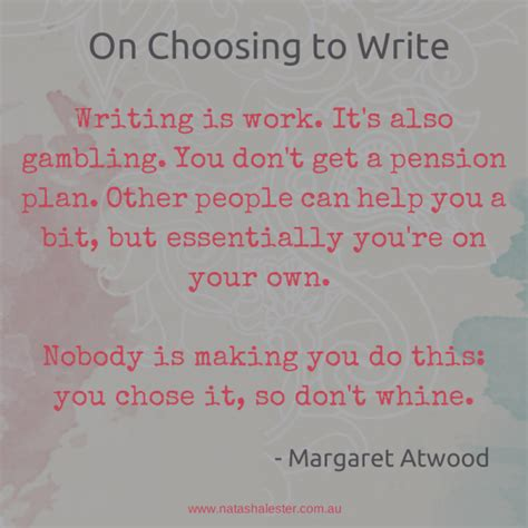 Margaret Atwood Essay by Writers On Writing Quotes Quotesgram